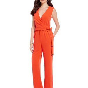 Antonio Melani Bri Crepe Jumpsuit Strawberry